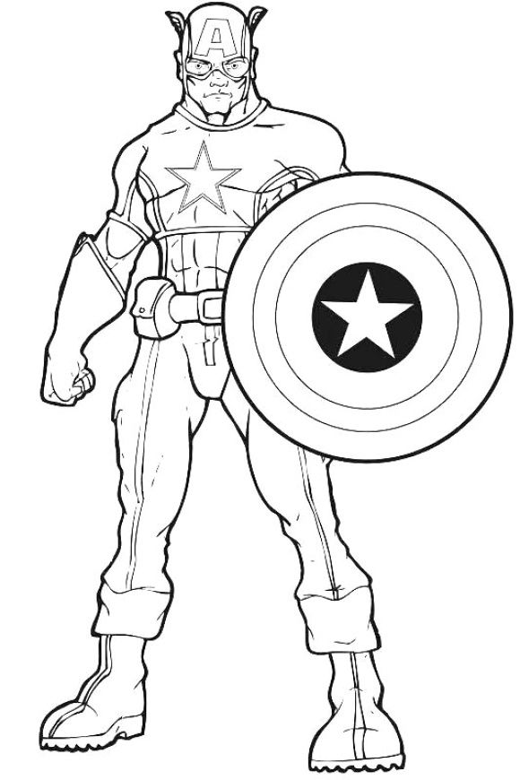 Coloring Page Avenger Hd Superhero Coloring Pages Avengers Coloring Pages Captain America Coloring Pages