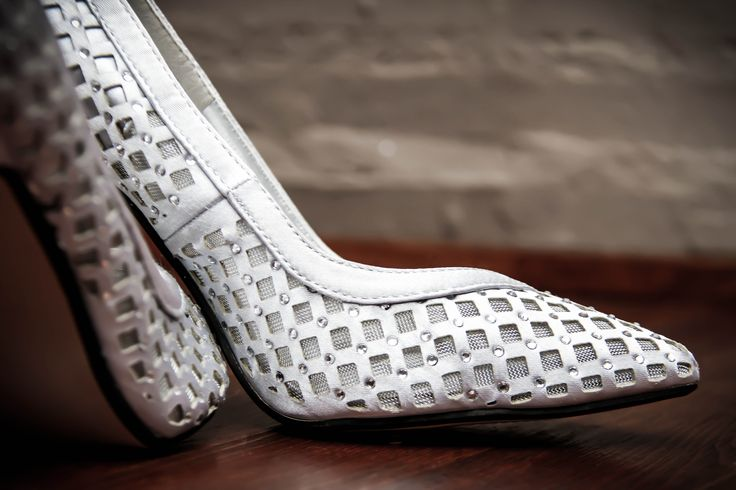Wedding shoes of Bianca van Schalkwyk - I love the texture of the shoes