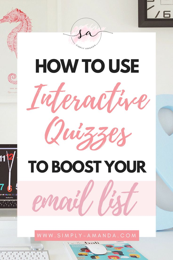 Looking for a fun and unique way to boost your email list? With Interact, lead generation and list building has never been easier. Click here to find out how online interactive quizzes can change the game for your blog! >>> via simply-amanda.com
