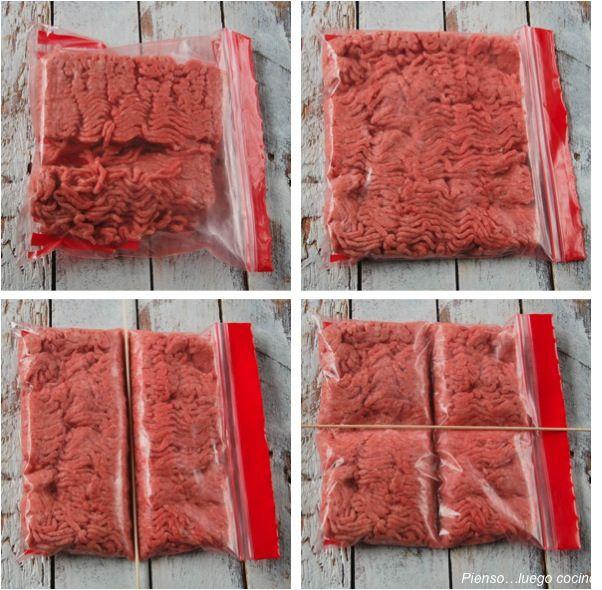 congelar carne picada