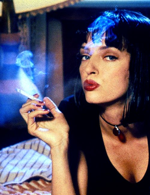 Uma Thurman in Pulp Fiction (1994). Smokin' ! And yes, some of us do have a bit of a thing for Uma
