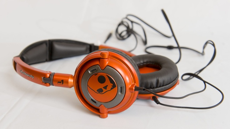 RETRO COOL: Orange low-rider headphones by Skullcandy, $59.99 at LondonDrugs.com. Enter to win a $ 500 shopping spree with @TheProvince and Brentwood Town Centre: http://theprov.in/pinandwin #backtoschool