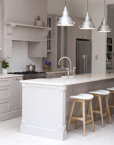 Provincial Kitchen Provincial Kitchen Island Bar Stools Neutral Colours Shaker