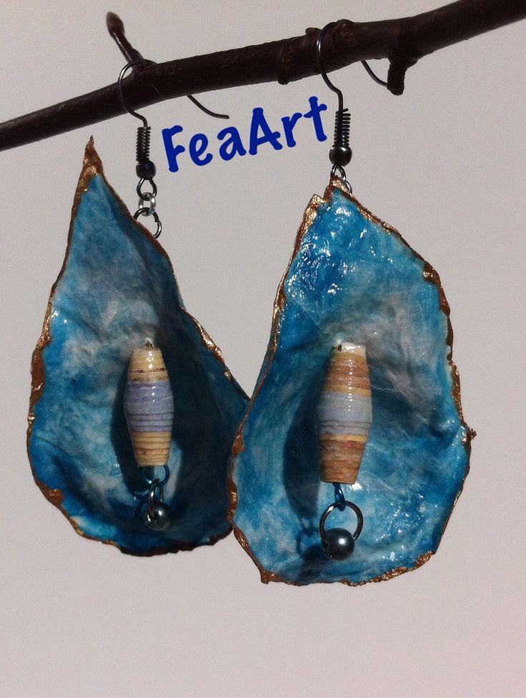 Papir øreringe. FeaArt Facebook