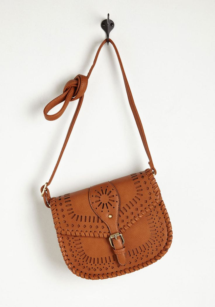 Sunny Experience Bag. Carrying your necessities in this vegan faux-leather purse is a heartwarming experience! #brown #modcloth