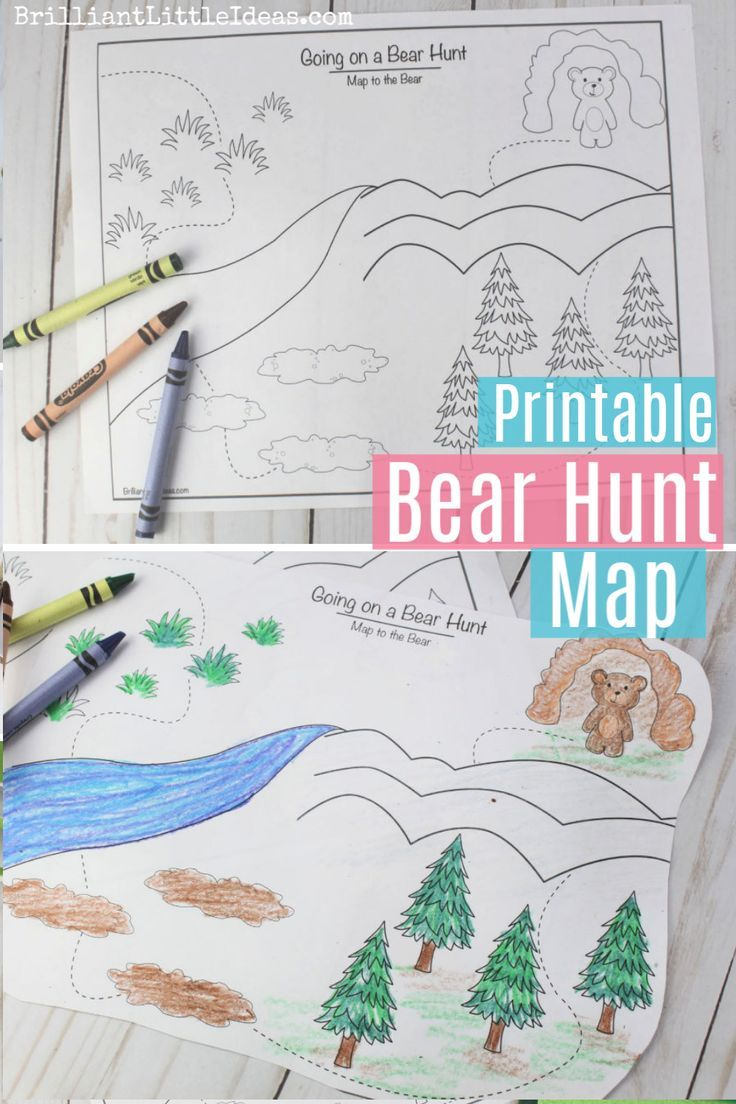 Free Printable Going on a Bear Hunt Color Page. Great with the