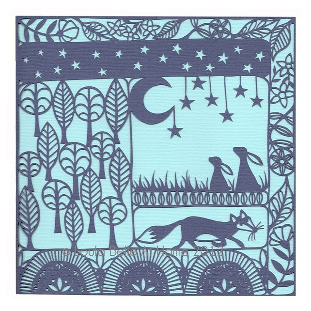 A Woodland Tale, a signed print of an original paper cut by Loula Belle At Home £12.50