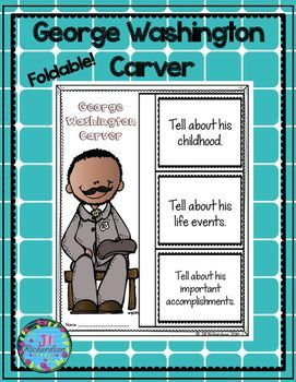 This product includes two ways for your children to share what they have learned about George Washington Carver in writing.George Washington Carver Foldable (color and black and white)George Washington Carver Fast Facts (color and black and white)