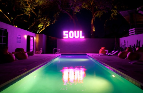 hotel saint cecilia • austin, tx • rivolta carmignani cotton sheets + anchini towels • cote bastide bath products • 50 ft. swimming pool • flat screen tv + dvd player • breakast, prepared to order • every room is equipped with a geneva sound system, including a turntable and ipod connection • library featuring an extensive collection of vintage vinyl • 24 hour concierge service • maid service twice daily • dog friendly