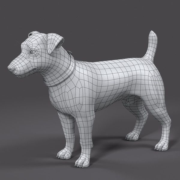 I'm going to be using the topology similar to the one done here with this model of a dog.