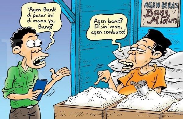 Kartun Benny, Kontan - April 2015: Bank Tanpa Kantor