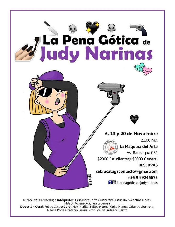 La pena gótica de Judy Narinas en La Máquina del Artes 12. 13 y 20 de Noviembre 21:00 hrs
