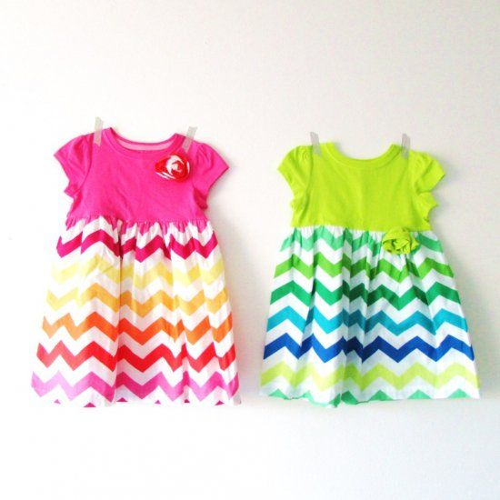 A quick and easy kid's dress tutorial using a premade jersey tee shirt for the top!