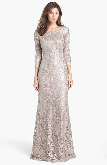 DREAM COME TRUE Tadashi Shoji Embellished Lace Gown available at #Nordstrom