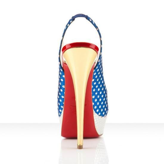 Christian Louboutin called these slingbacks Miss America. To me they scream #WonderWoman #shoes