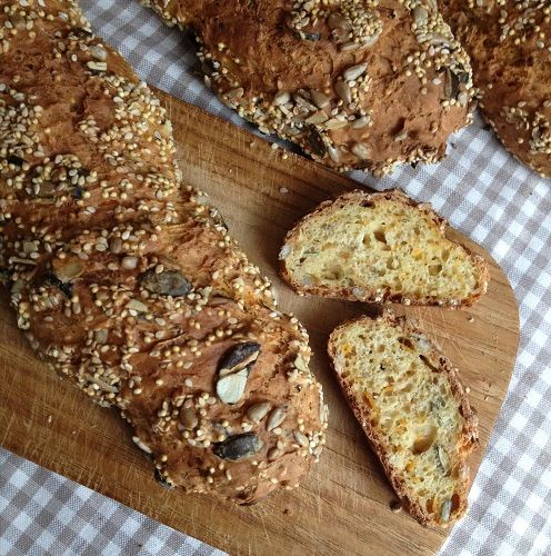 Joghurt-Möhren-Brot, Bread Baking (Fri)day, Brot, Backen