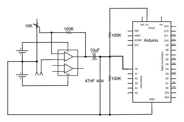 DC Offset, convert -2.5V - +2.5V to 0-5V
