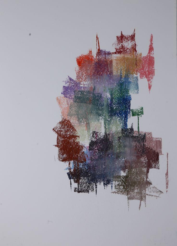 Michael Třeštík, 400 colors on 10 sheets, series I, No. 1, 2016, pastel A1