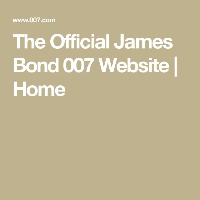 The Official James Bond 007 Website | Home