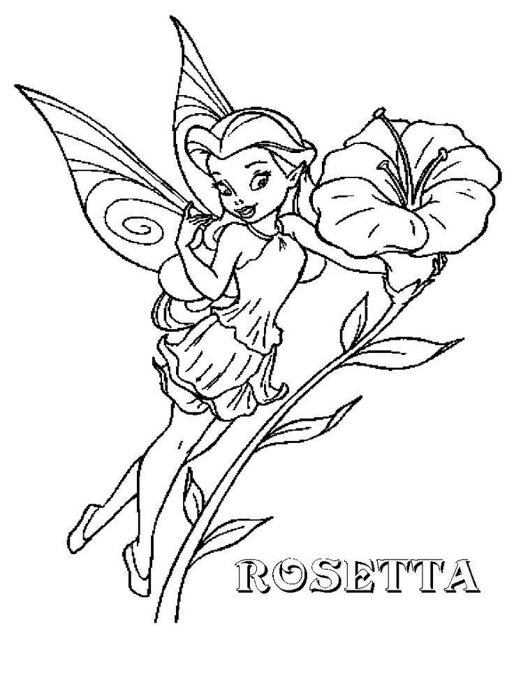 Desenho De Fada Fawn E Flor Para Colorir Tudodesenhos
