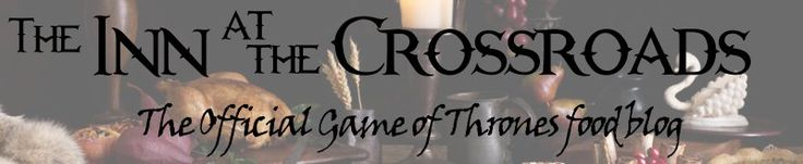 """Inn at the Crossroads"" -- The Official Game of Thrones food blog.  Provides both historical/modern versions of recipes, so you will find Roman, medieval, etc. dishes here, along with modern revisions."