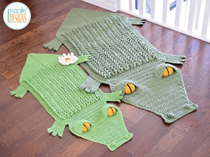 Crochet Pattern PDF for making an awesome Alligator Animal Rug or ...