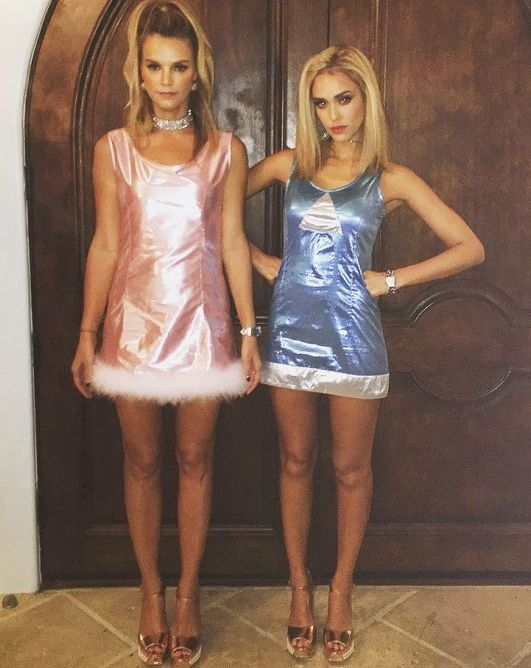 Jessica Alba and Kelly Sawyer as Romy and Michele - click through for more pop culture fashion Halloween costume ideas!