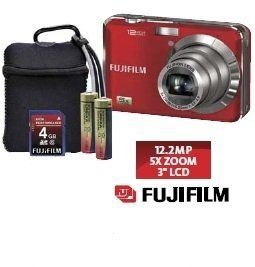 Fuji Finepix Ax230 Digital Camera Kit. 12MP. 5x optical zoom. Camera, SD card and carry case package. 2xAA batteries operated, use anywhere, batteires can get anywhere.
