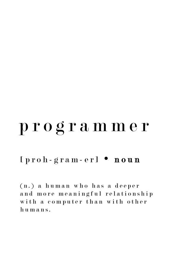 Programmer Definition Print Funny It Quote Student Etsy In 2020 Aesthetic Words Funny Quotes Programmer Quote