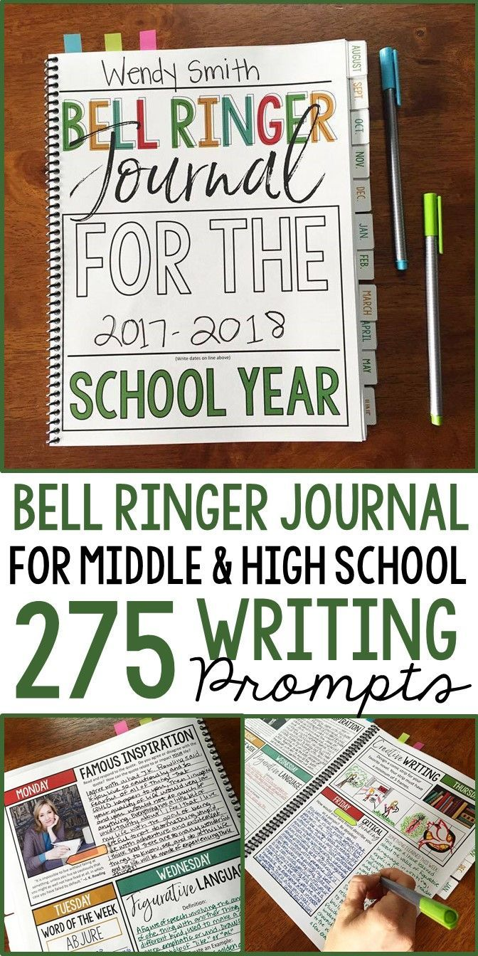 Journal prompts for the entire school year | 275 bell ringers | grades 7-12 | middle & high school