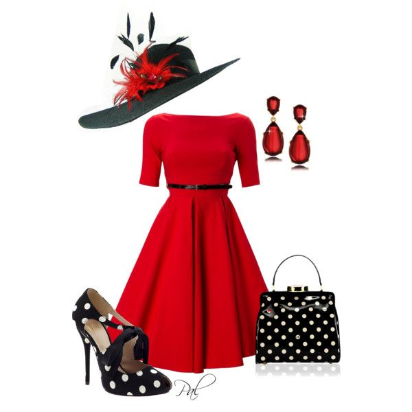 Derby Day Hat by pamlcs on Polyvore featuring Full Circle, Truth or Dare, Lulu Guinness and Kenneth Jay Lane