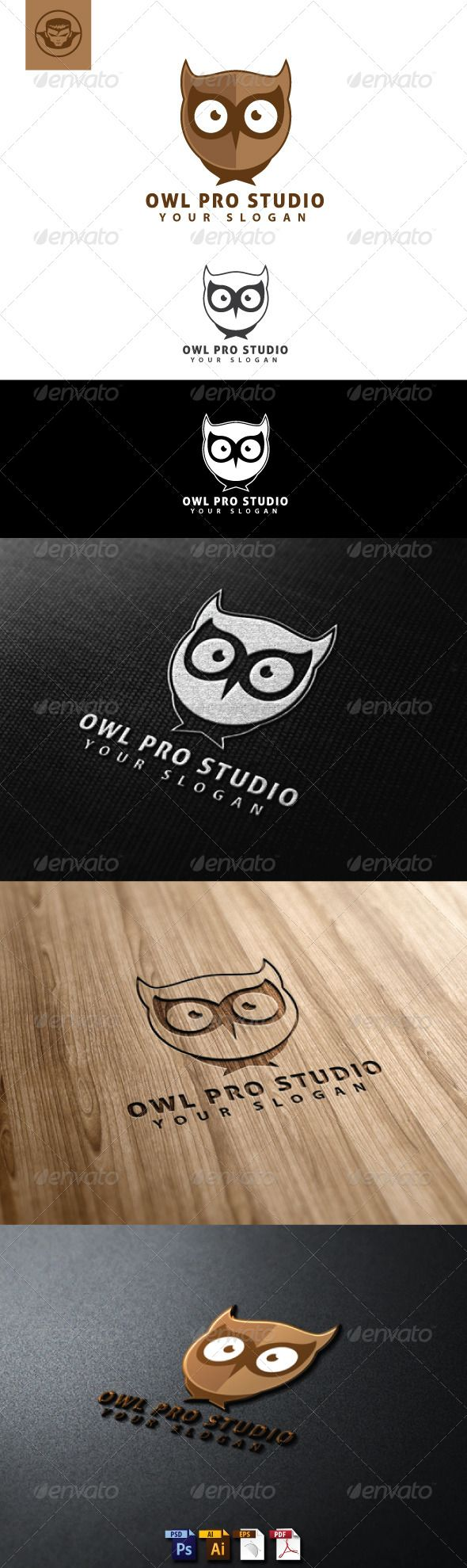 Owl Pro Studio Logo Template #GraphicRiver Owl Pro Studio Logo Template is An excellent logo template highly suitable for logo company, office, organization, studio, mascot These files consists of resizable vector format files like AI, EPS , and PDF . Also PSD format for raster version alternative. font used Aller Display >> .fontsquirrel /fonts/Aller Thanks and enjoy Don't Forget to rate Created: 29May13 GraphicsFilesIncluded: PhotoshopPSD #VectorEPS #AIIllustrator Layered: Yes…