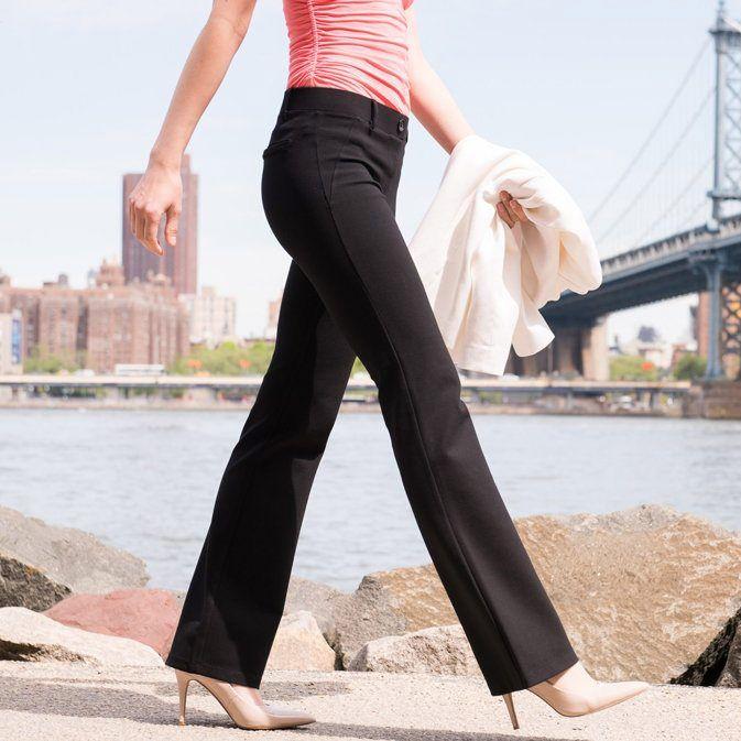 Black Dress Pant Yoga Pants (Boot-Cut)