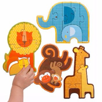 Safari Babies Beginners Puzzle $19.95 #sweetcreations #baby #kids #toddlers #games #puzzles #toys