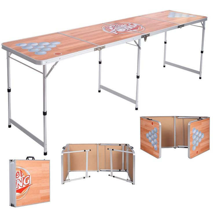 New Foldable Aluminum 8' Folding Beer Pong Table Portable Outdoor Indoor From Newlife2016dh, $41.89 | Dhgate.Com