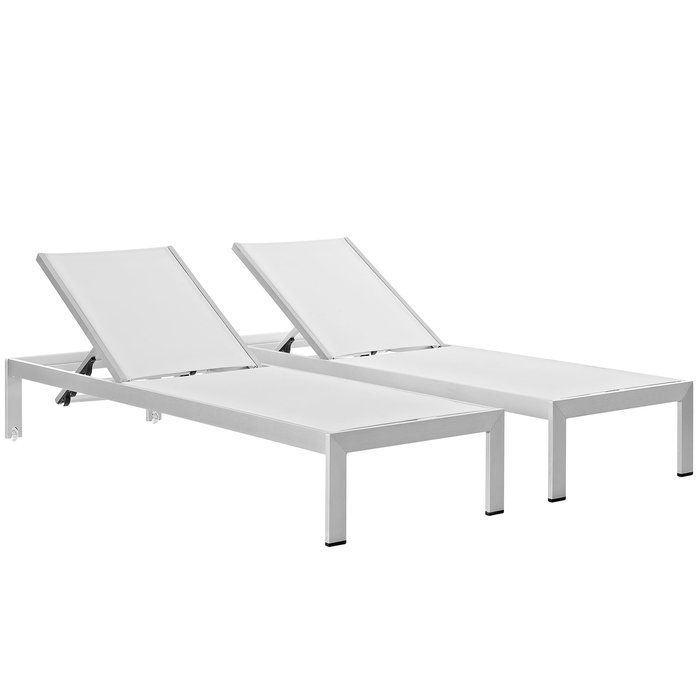 Coline Reclining Chaise Lounge Outdoor Patio Aluminum Single Chaise With Images Patio Chaise Patio Chaise Lounge Outdoor Chaise Lounge