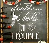 Halloween Chalkboard Art and Free Printable - Uncommon Designs...
