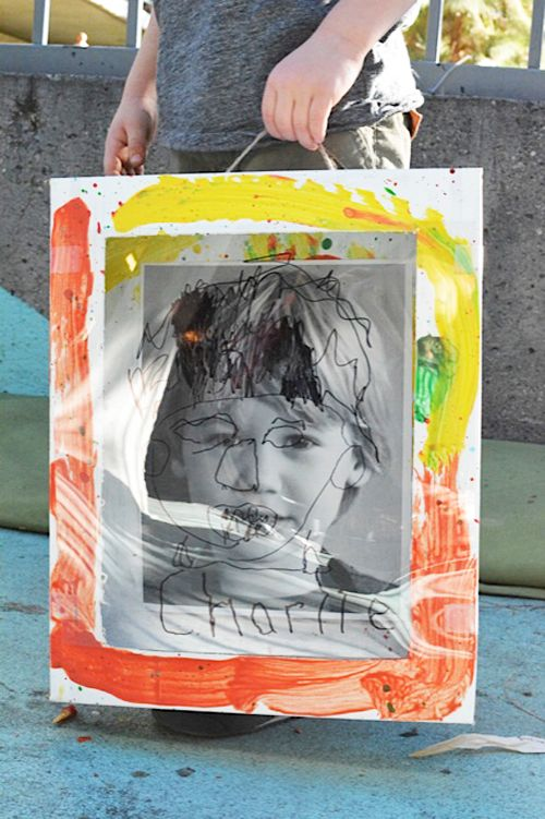 Reggio inspired Self-identity portrait - find shapes on your face that are unique to you