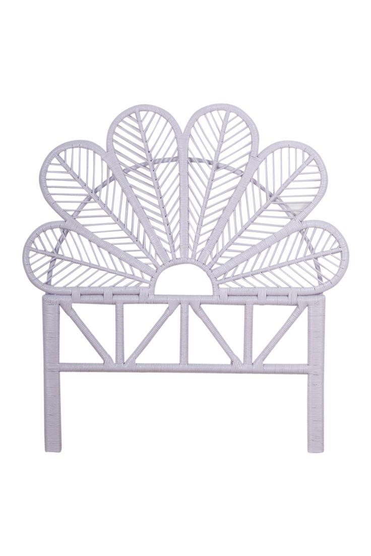 King Single Petal Bed Head Lilac - The Family Love Tree