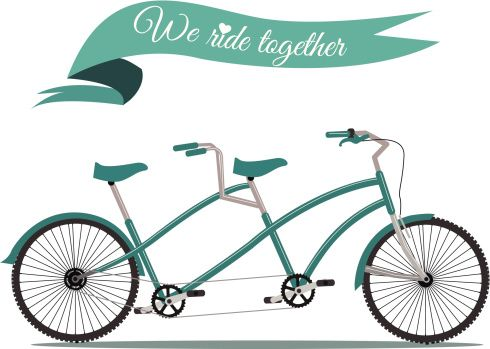 tandem bicycle illustration - Google Search