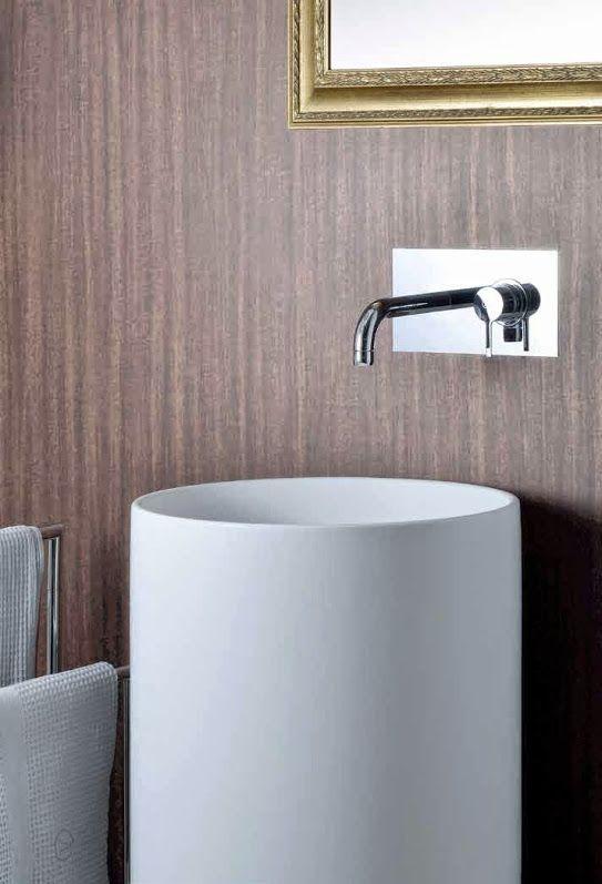 Mitigeur monocommande encastré pour lavabo, série NU de ALPI