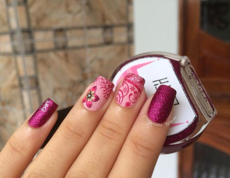 Brazilian Indie - DRK Nails - October in Pink Nails - Pueen Stamping Plate