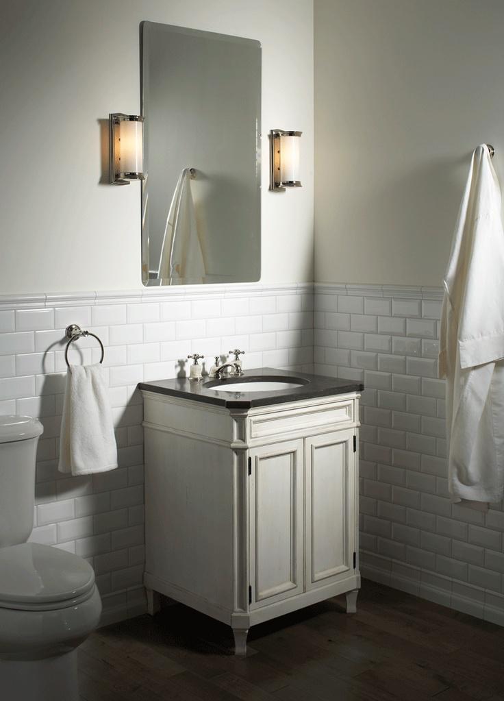 Ann Sacks Arden 3 X 6 Beveled Ceramic Field In White With Kallista Plumbing Classic Cylinder