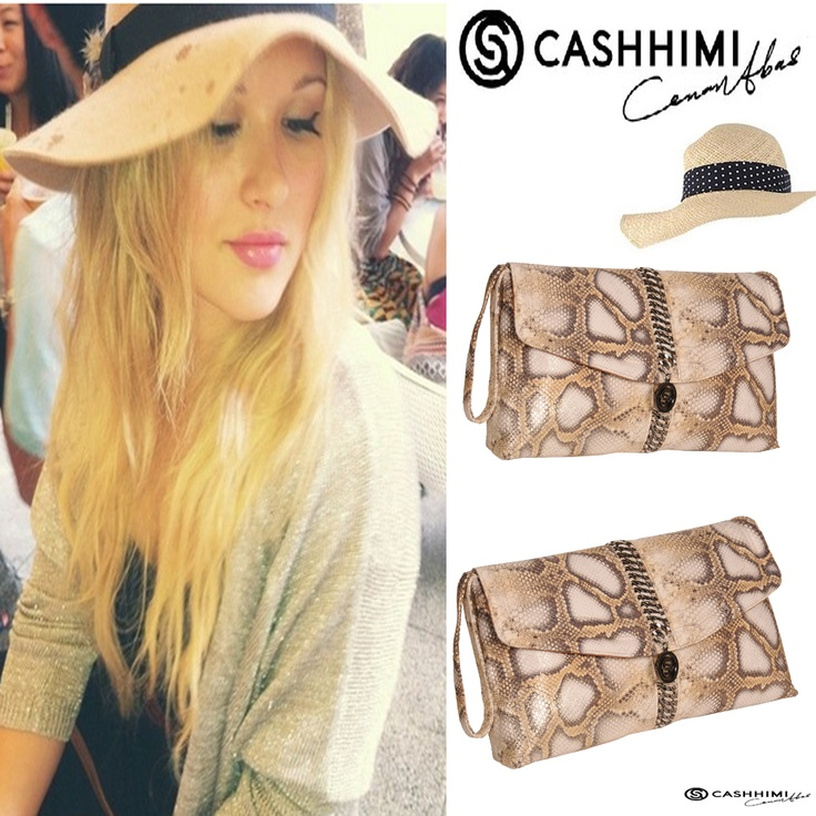 Cashhimi Brown ABBOT KINNEY Leather Clutch
