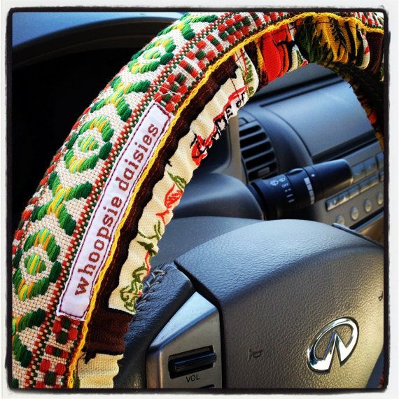 Car Bench Seat Covers >> Hippie Chick Steering Wheel Cover by Whoopsie Daisies on ...