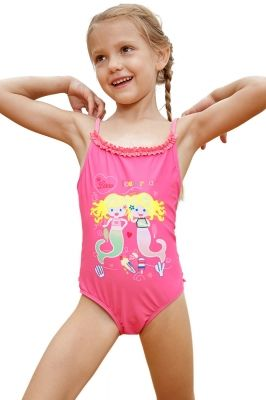 61a7ab37a964c Pink Little Mermaid Princess Teddy Swimsuit in 2019