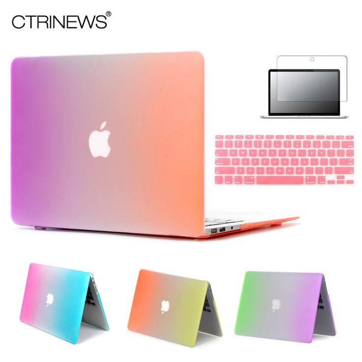CTRINEWS Rainbow Matte Case For Apple Macbook Air 13 Case Air 11 Pro 13 Retina 12 13 15 Laptop Bag For MacBook Pro 13 Case //Price: $15.58//     #onlineshop