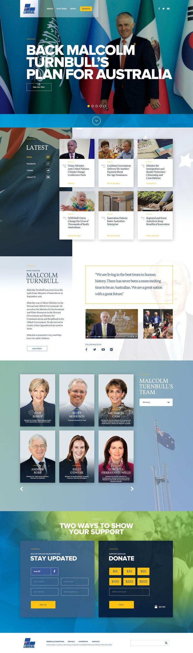 Liberal Party of Australia 2016 Website Design