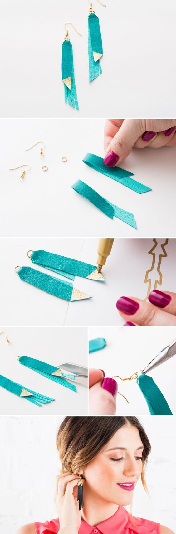 Make your own leather fringe jewelry with this kit. Buy it here: http://go.brit.co/1zQFdUr: