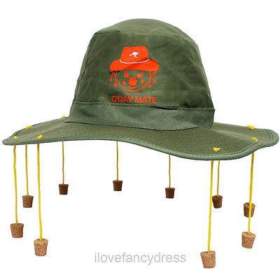 #Australian cork hat australia day party fancy #dress #crocodile dundee cricket,  View more on the LINK: http://www.zeppy.io/product/gb/2/291062423360/
